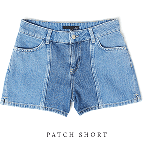 ETAM - PATCH Short en jean délavé