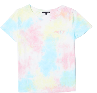 "ETAM - RAINBOW T-shirt brodé ""Happy"" tie and dye"