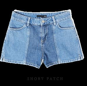 ETAM - PATCH Short en jean délavé